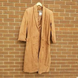 Vintage Global Identity leather trench coat medium